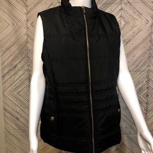Jones NY Sport L zip up puffer sleeveless jacket